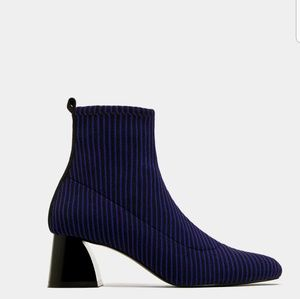 Zara Contrasting sock style high  ankle Boots